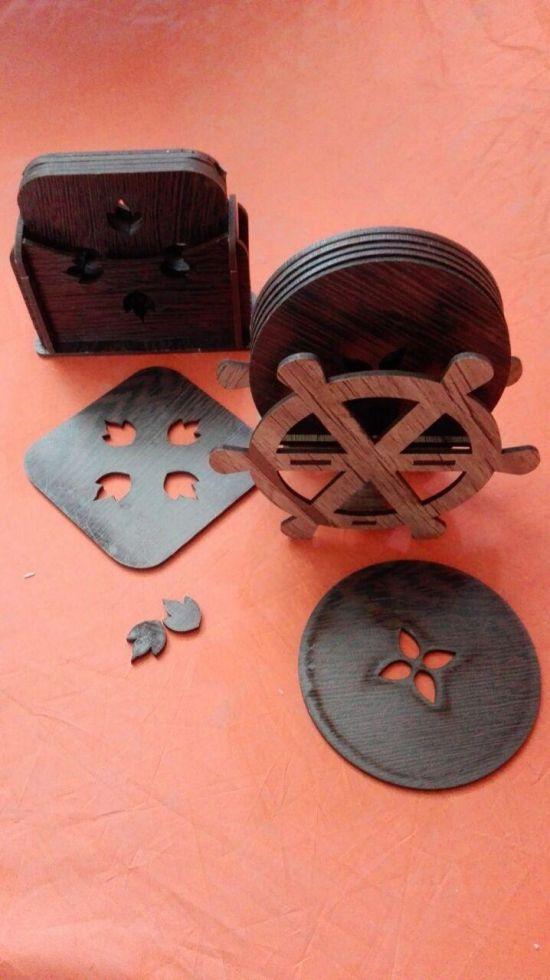 زیر لیوانی کلاسیک چوبی 2000 فروش