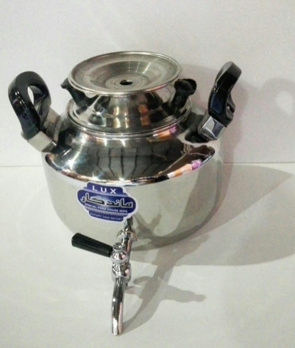 کتری استیل4 لیتری شیردار- اجناس لوکس